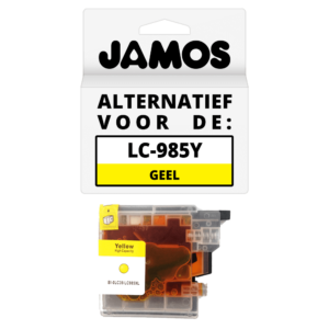 JAMOS Inktcartridge Alternatief voor de Brother LC-985Y Geel