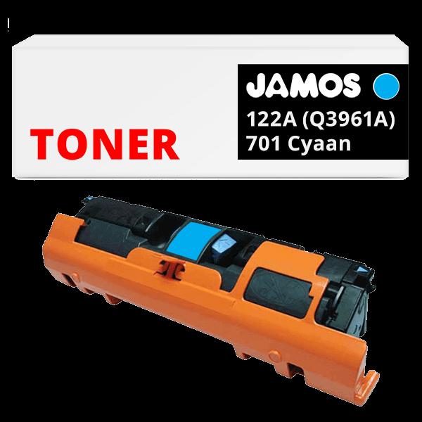 JAMOS Tonercartridge Alternatief voor de HP 122A Cyaan Q3961A
