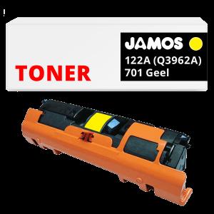 JAMOS Tonercartridge Alternatief voor de HP 122A Geel Q3962A