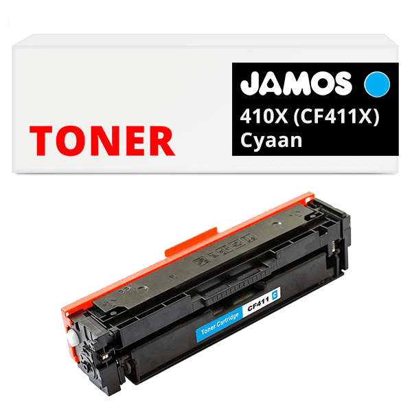 JAMOS Tonercartridge Alternatief voor de HP 410X Cyaan CF411X