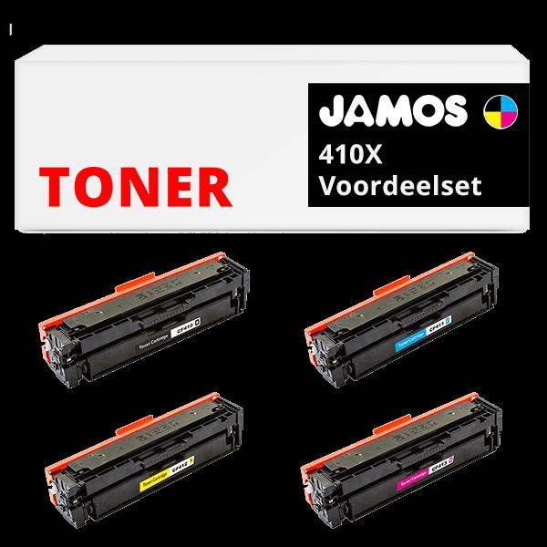 JAMOS Tonercartridges Alternatief voor de HP 410X Voordeelset