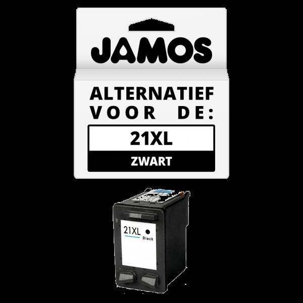 JAMOS Inktcartridge Alternatief voor de HP 21XL Zwart