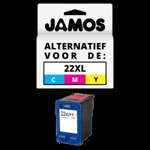 JAMOS Inktcartridge Alternatief voor de HP 22XL Kleur