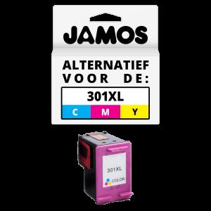 JAMOS Inktcartridge Alternatief voor de HP 301XL Kleur