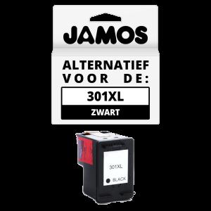 JAMOS Inktcartridge Alternatief voor de HP 301XL Zwart