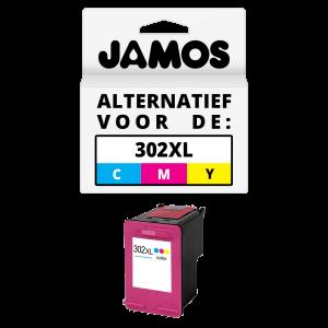 JAMOS Inktcartridge Alternatief voor de HP 302XL Kleur