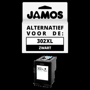 JAMOS Inktcartridge Alternatief voor de HP 302XL Zwart