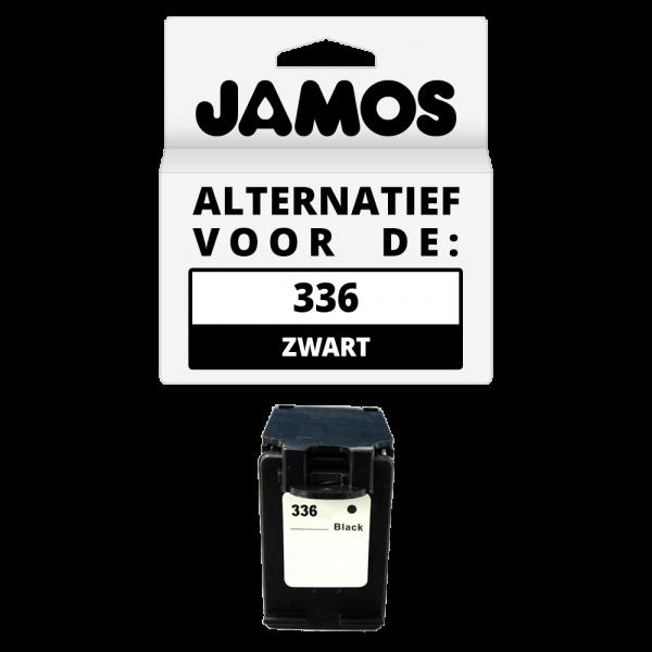 JAMOS Inktcartridge Alternatief voor de HP 336 Zwart