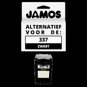 JAMOS Inktcartridge Alternatief voor de HP 337 Zwart