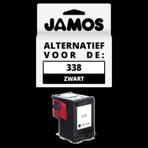 JAMOS Inktcartridge Alternatief voor de HP 338 Zwart