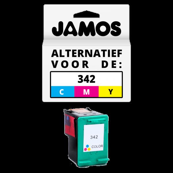 JAMOS Inktcartridge Alternatief voor de HP 342 Kleur