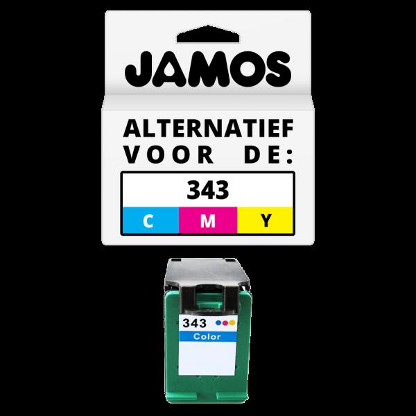JAMOS Inktcartridge Alternatief voor de HP 343 Kleur
