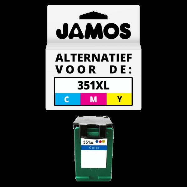 JAMOS Inktcartridge Alternatief voor de HP 351XL Kleur