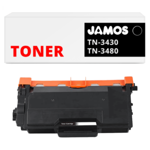 JAMOS Tonercartridge Alternatief voor de Brother TN-3480 Zwart