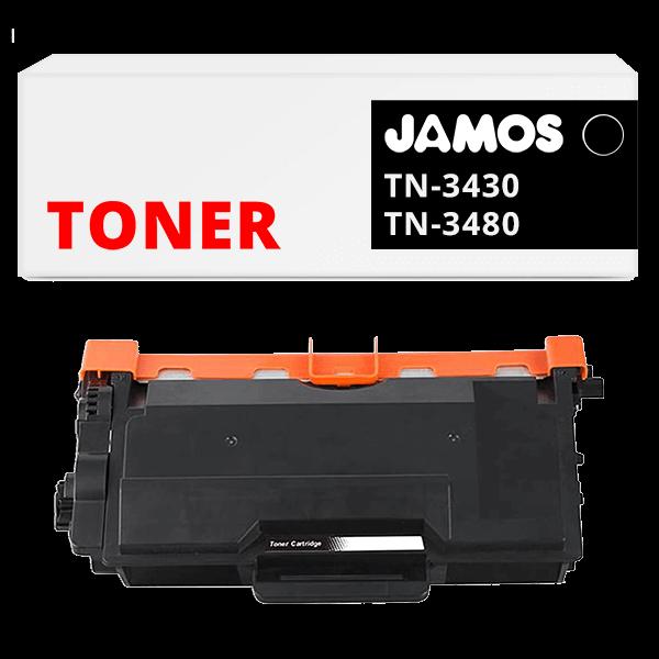 JAMOS Tonercartridge Alternatief voor de Brother TN-3480 Zwart
