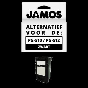 JAMOS Inktcartridge Alternatief voor de Canon PG-510 PG-512 Zwart