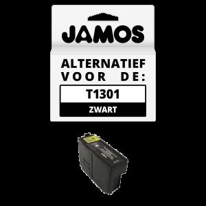 JAMOS Inktcartridge Alternatief voor de Epson T1301 Zwart