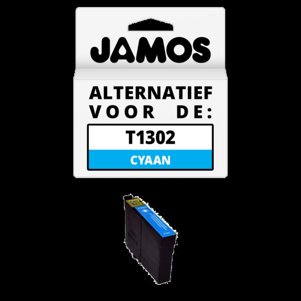 JAMOS Inktcartridge Alternatief voor de Epson T1302 Cyaan