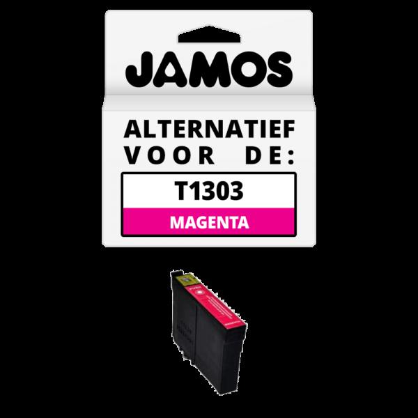 JAMOS Inktcartridge Alternatief voor de Epson T1303 Magenta