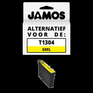 JAMOS Inktcartridge Alternatief voor de Epson T1304 Geel