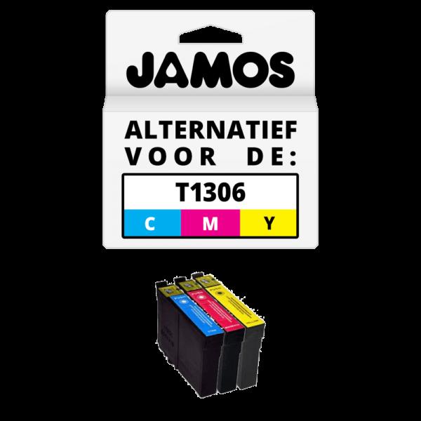 JAMOS Inktcartridge Alternatief voor de Epson T1306 CMY Kleuren Set