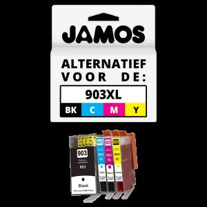 JAMOS Inktcartridge Alternatief voor de HP 903XL Voordeelset