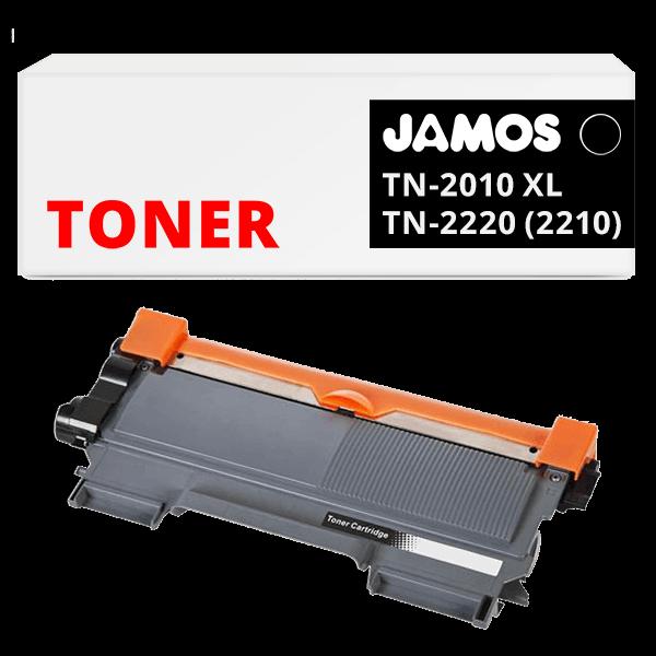 JAMOS Tonercartridge Alternatief voor de Brother TN-2010 TN-2210 TN-2220 Zwart