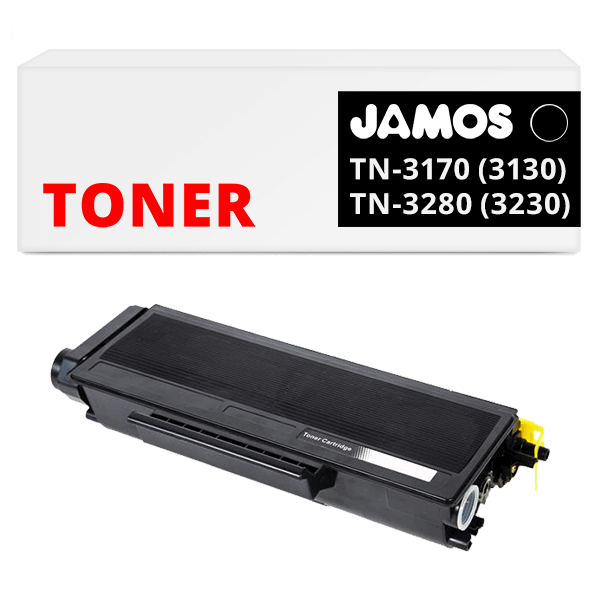 JAMOS Tonercartridge Alternatief voor de Brother TN-3130 TN-3170 TN-3230 TN-3280 Zwart