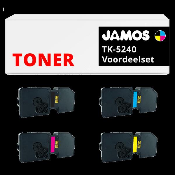 JAMOS Tonercartridge Alternatief voor de Kyocera TK-5240 Voordeelset