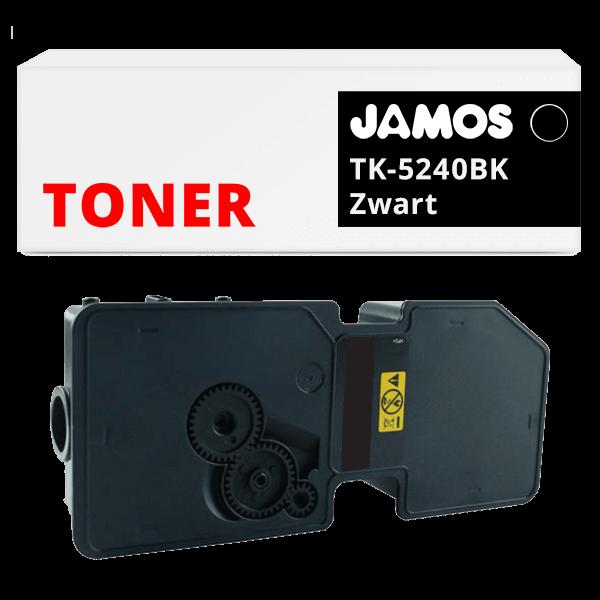 JAMOS Tonercartridge Alternatief voor de Kyocera TK-5240BK Zwart