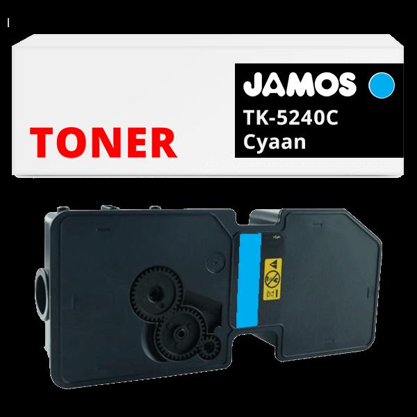JAMOS Tonercartridge Alternatief voor de Kyocera TK-5240C Cyaan