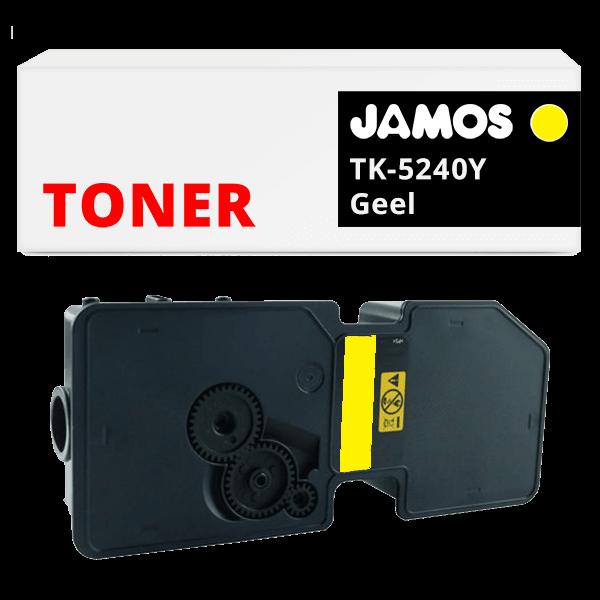 JAMOS Tonercartridge Alternatief voor de Kyocera TK-5240Y Geel