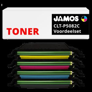JAMOS Tonercartridges Alternatief voor de Samsung CLT-P5082C Voordeelset