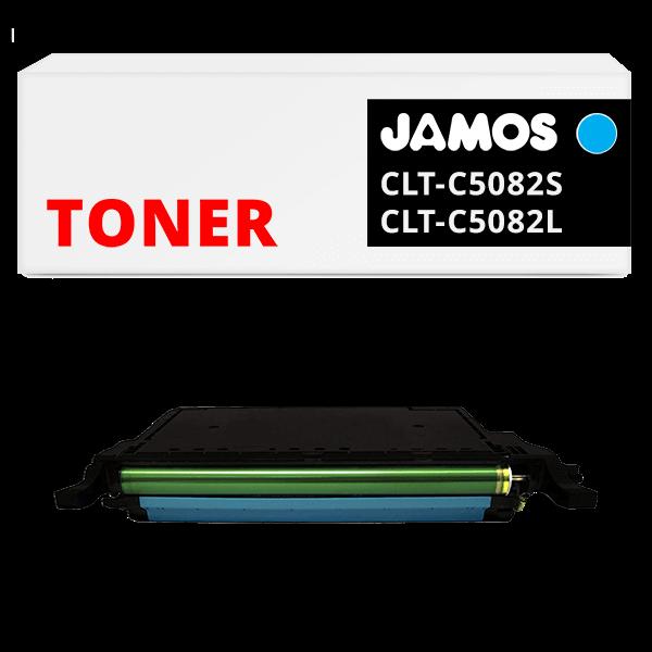 JAMOS Tonercartridge Alternatief voor de Samsung CLT-C5082S CLT-C5082L Cyaan