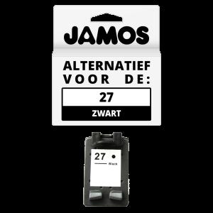 JAMOS Inktcartridge Alternatief voor de HP 27 Zwart