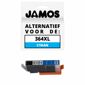 JAMOS Inktcartridge Alternatief voor de HP 364XL Cyaan