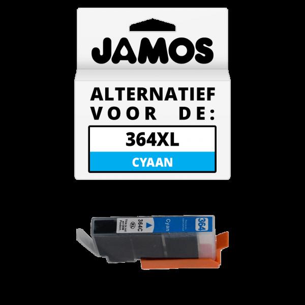 JAMOS Inktcartridge Alternatief voor de HP 364XL Cyaan
