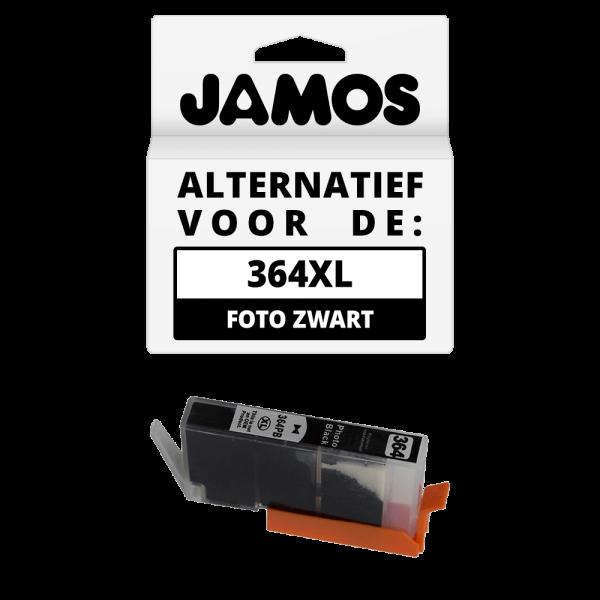 JAMOS Inktcartridge Alternatief voor de HP 364XL Foto Zwart