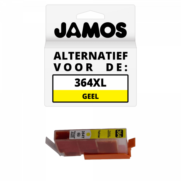 JAMOS Inktcartridge Alternatief voor de HP 364XL Geel