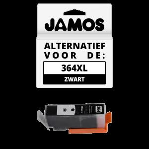 JAMOS Inktcartridge Alternatief voor de HP 364XL Zwart