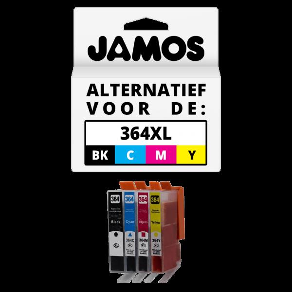 JAMOS Inktcartridge Alternatief voor de HP 364XL Zwart & Kleuren Voordeelset