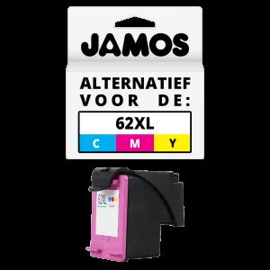 JAMOS Inktcartridges Alternatief voor de HP 62XL Kleur