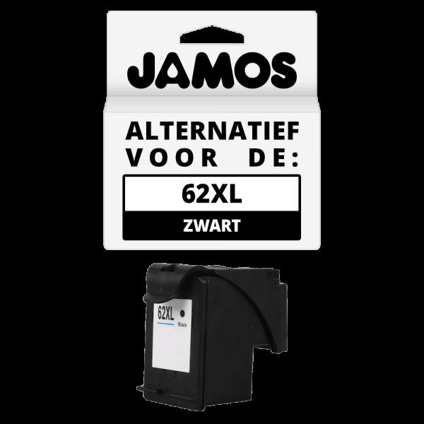 JAMOS Inktcartridge Alternatief voor de HP 62XL Zwart