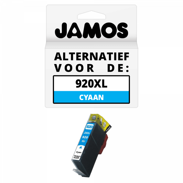 JAMOS Inktcartridge Alternatief voor de HP 920XL Cyaan