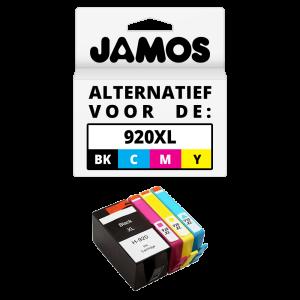 JAMOS Inktcartridge Alternatief voor de HP 920XL Zwart & Kleuren voordeelset