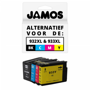 JAMOS Inktcartridge Alternatief voor-de-HP 932XL & 933XL Voordeelset