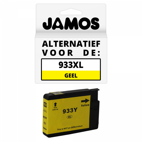 JAMOS Inktcartridge Alternatief voor de HP 933XL Geel