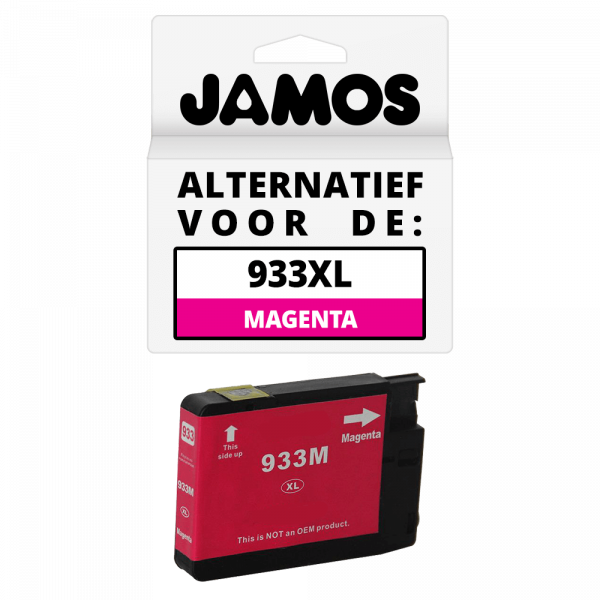 JAMOS Inktcartridge Alternatief voor de HP 933XL Magenta