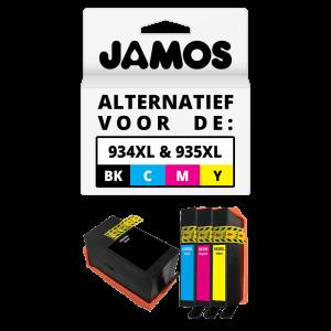 JAMOS Inktcartridge Alternatief voor de HP 934XL Zwart & 935XL Kleuren Voordeelset