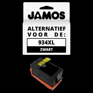JAMOS Inktcartridge Alternatief voor de HP 934XL Zwart